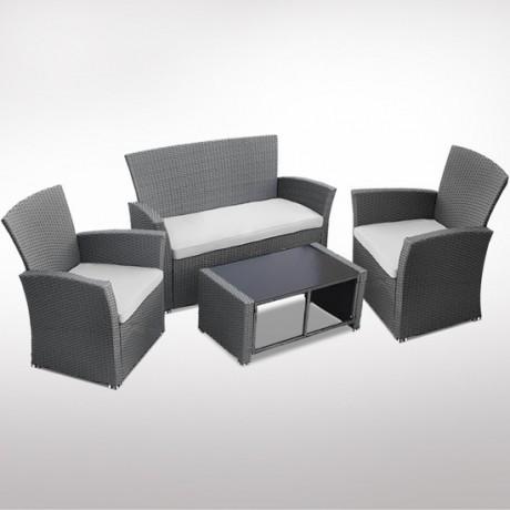 Zahradní ratanový nábytek set 2 kresla pohovka a stůl