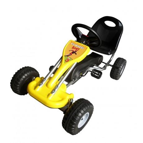 Dětská motokára , bezpečná , žlutá , nad 3 roky